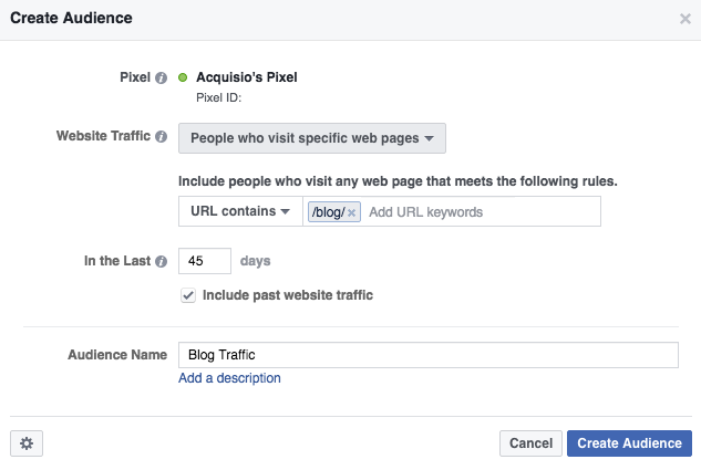 how to retarget link clicks on facebook