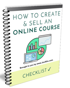 How To Create & Sell An Online Course